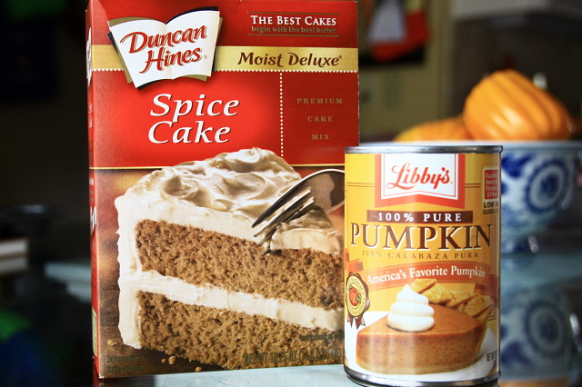 Spice Cake Mix Made With A Can Of Pumpkin