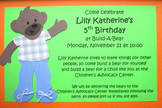 LKs BuildABear Party Finally – Build a Bear Invitations Birthday